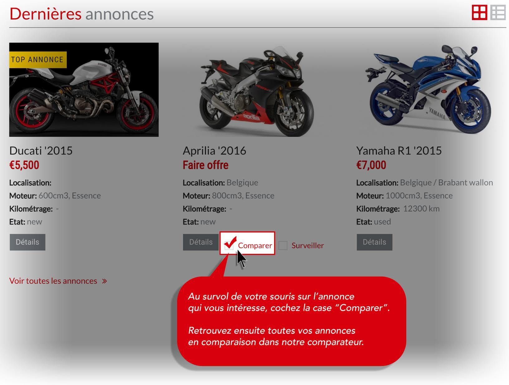 Comparateur motos
